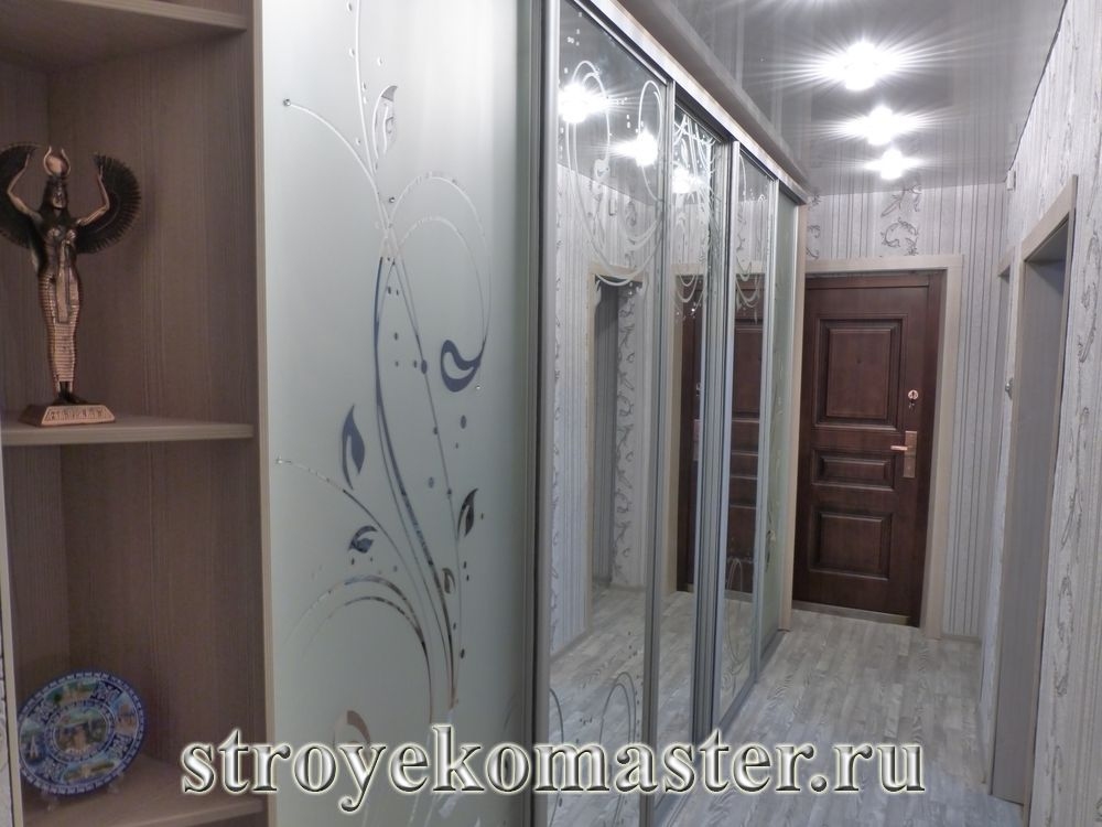Дизайн шкафа купе для узкого коридора